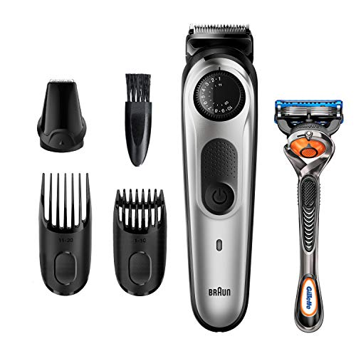 Braun Beard Trimmer BT5260, Hair Clippers for Men, Cordless & Rechargeable, Detail Trimmer with Gillette ProGlide Razor