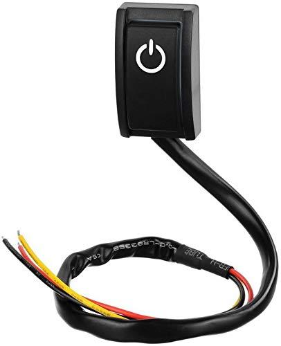 Gebildet DC 12V 200mA Interruptor de Tipo de Pasta de Encendido/Apagado,Interruptor de Coche DIY con Adhesivo de Doble Cara