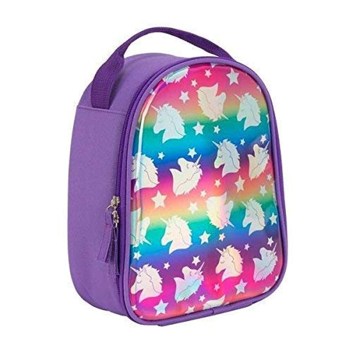 "3C4G 54408 Unicorn Hologram Lunch Box, 7.5"" x 9.5"" x 4"", Purple"