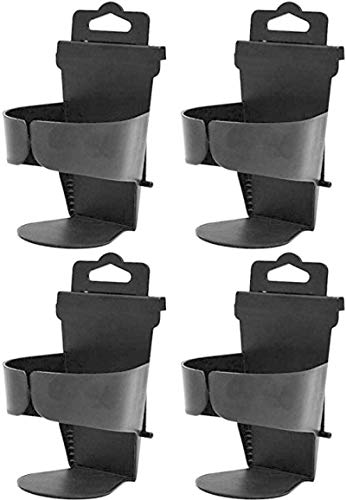 YANGYOU 4pcs Universal Auto Truck Seat Side Cup Holder Adjustable Drinking Cup Holder Folding Cup Drink Holder Black Abs Plastic Car Cup Holder