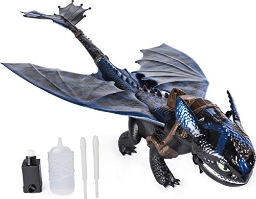 Dreamworks Dragons, Giant Fire Breathing Toothless Action Figure, 20-inch Dragon with Fire Breathing Effects