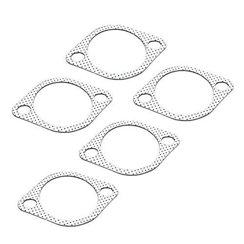 """Junta de tubo de escape, 5 piezas Junta de metal de tubo de escape cerámico de 3""""con anillo reforzado Tubo descendente de 3 pulgadas/76 mm"""