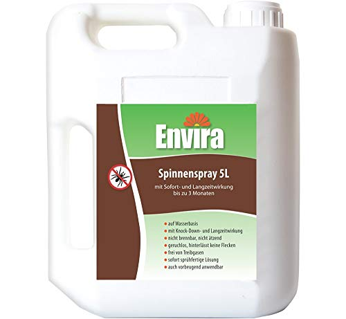 Envira Spinnen-Spray - Anti-Spinnen-Mittel Mit Langzeitwirkung - Geruchlos & Auf Wasserbasis - 5 Liter