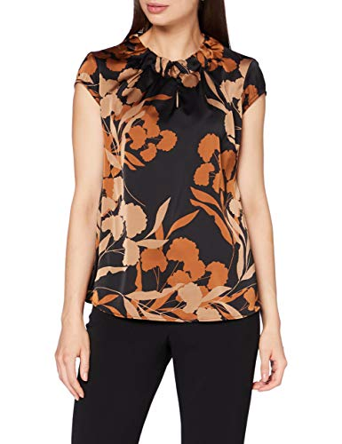 comma Damen 85.899.12.1332 Bluse, 99C2 Black floral Print, 38