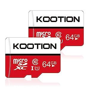 64GB Micro SD Card 2 Pack Ultra Micro SDXC Memory U1 Card Class 10 Micro SD Cards 64GB High Speed TF Card R Flash, C10, U1, 64 GB (2 Pack)