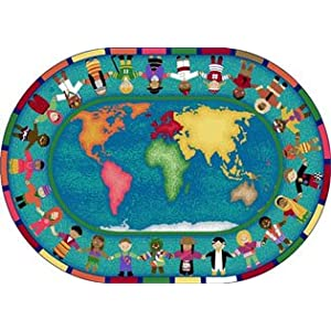 Hands Around The World Rug – 7.67 Foot x 10.75 Foot Rect