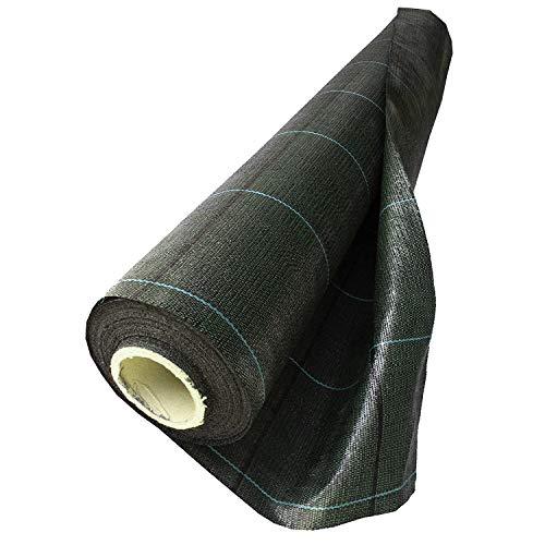NOOR Onkruidblok Profirol 105 gr/m2 0,5 x 25 m I De tuinfolie voor het verhoogde bed & de broeikas I onkruidbescherming voor tuinpaden & terrassen I Waterdoorlatend & milieuvriendelijk I zwart