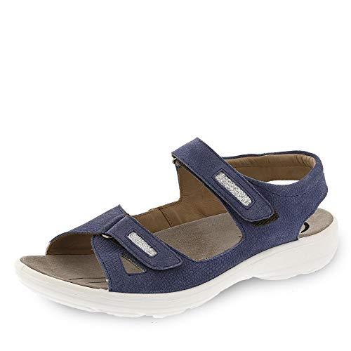 Jomos Sandalen in Übergrößen Blau 890607 987 8096 große Damenschuhe, Größe:42