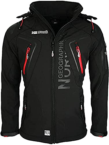 Geographical Norway TECHNO BELL Men - Giacca softshell da uomo invernale in pile con...