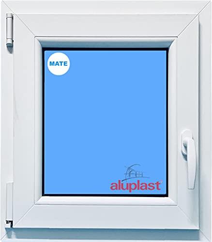 ECO-BLU (V22M) Fenêtre en PVC pour salle de bain 500 x 700 Occultant gauche mat, blanc, 500 x 700 mm