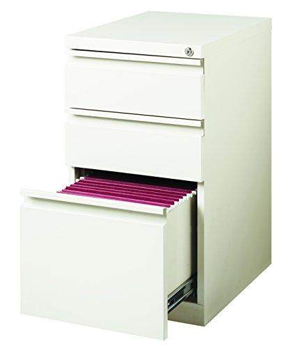 Hirsh Industries 20' Deep Box/Box/File Mobile Pedestal, White, 19353