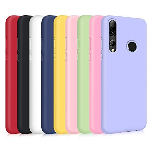 9X Funda para Huawei P Smart 2019/ Honor 10 Lite, Ultra Delgado Color Silicona Carcasa Premium Suave Flexible TPU Gel Bumper Protectora Caso Anti-Rasguños Anti-Choque