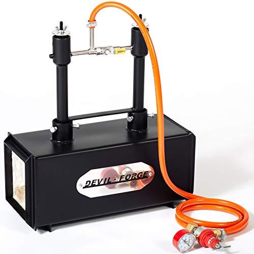 Forgia a gas propano – DFPROF2 | con 2 bruciatori DFP (80,000 BTU) fabbri maniscalco realizzatori di coltelli lavori di forgiatura | Bruciatori con valvole a sfera per gas Utilizzare 1 o 2 bruciatori