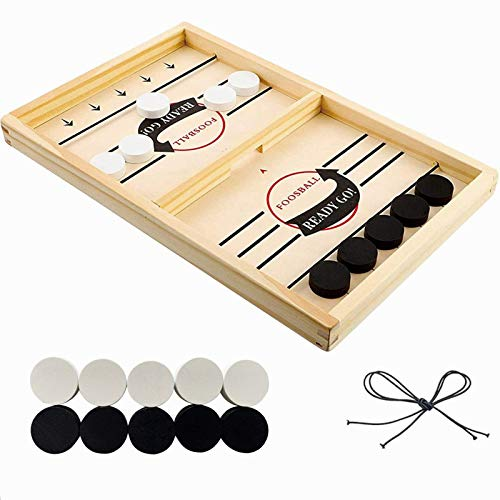 Yakuin Foosball Games Winner Table Hockey Game Catapult Chess Parent-Child Interactive Toy Fast Sling Puck Board Game Toys for Children