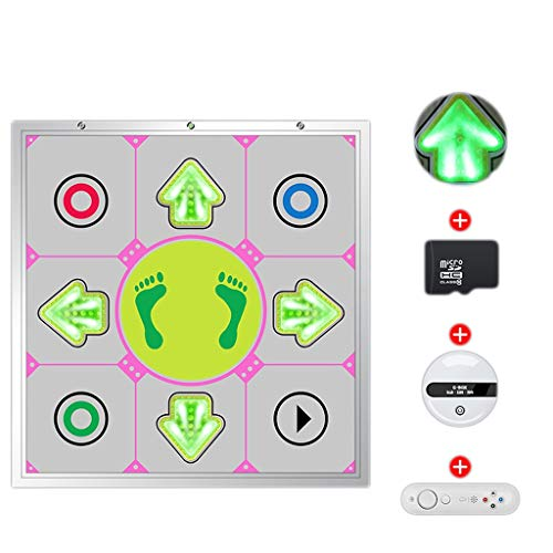 WYH Intéressant Lumineux métal Danse Machine Maison TV à Double Usage en Cours de Danse à Pleine Main Dance City Jeu Vidéo Blanket Danse sans Fil Sensible (Color : Silver)