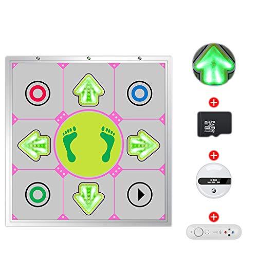 YYF Bonne Isolation Acoustique Lumineux métal Danse Machine Maison TV à Double Usage en Cours de Danse à Pleine Main Dance City Jeu Vidéo Blanket Danse sans Fil Doux (Color : Silver)