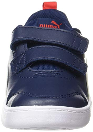 PUMA COURTFLEX V2 V INF, Zapatillas Unisex niños, Azul (Peacoat/High Risk Red), 20 EU