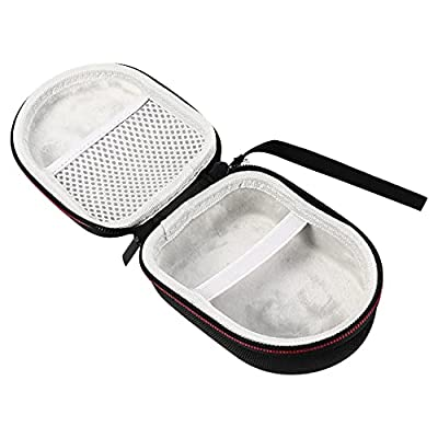 PIXNOR Carrying Case Electric Shaver Case Travel Carry Bag Audio Pouch for Mens Electric Trimmer Shaver Hair Clipper Comestic Black