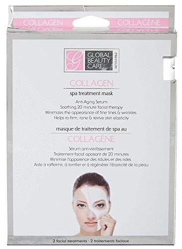 Original Global Beauty Care Mascarilla de tratamiento de colágeno para todos los tipos de piel, paquete de 2 máscaras