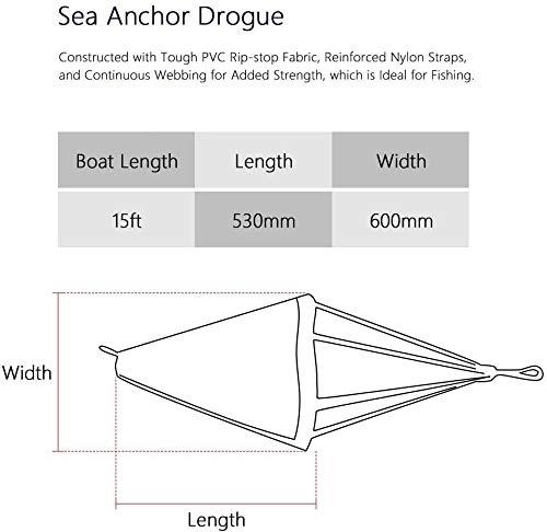 PVC Drift Sock Sea Anchor Drogue