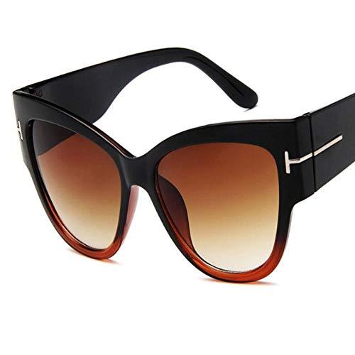 DLSM Übergroße Cat Eye weibliche Sonnenbrille getönte Linse männliche Sonnenbrille weibliche Brille Blaue Sonnenbrille Wird zum Skifahren, Golfen, Laufen, Radfahren verwendet-c6
