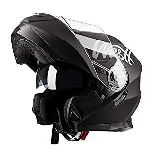 Westt Torque X - Casco De Moto Modular Integral con Doble Visera -Negro Mate - Motocicleta Scooter Absorbe Impacto - certificado ECE (B07BDPBG7T) | Amazon price tracker / tracking, Amazon price history charts, Amazon price watches, Amazon price drop alerts