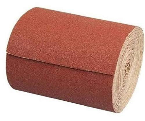6 Schleifpapierrollen Set 115 mm x 10 m | Korn 40, 60, 80, 120, 180, 240 | Schleifrolle Schleifpapier Mix Aluminiumoxid Rolle