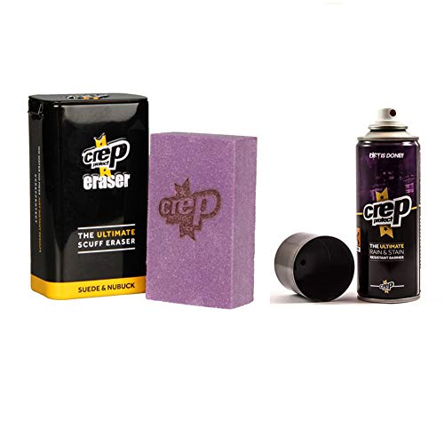 Crep Protect Suede and Nubuck Shoe Care Kit Includes the Rain & Stain Resistant Barrier Spray and...