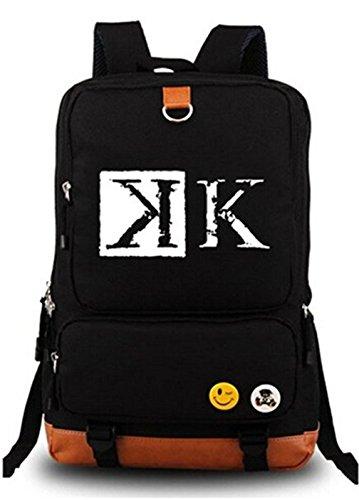 Gumstyle Anime K Project Rucksack, leuchtend, große Kapazität, Schultasche, Cosplay, Schwarz