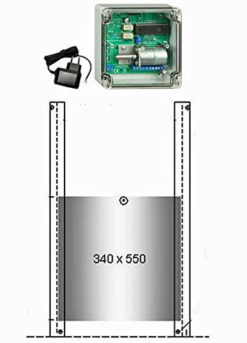 JOSTechnik JT-HK automatische Gänseklappe 340 x 550 mm mit echter Nothaltefunktion
