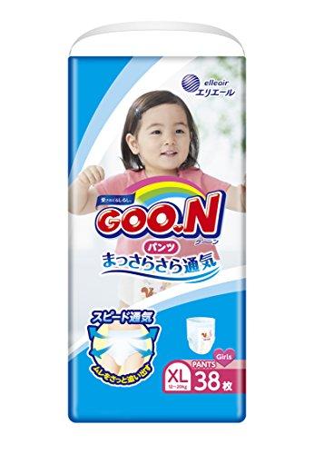 GOO.N Baby Windelhöschen für Mädchen BIG Gr. XL (12-20 kg) 38 Stück Premium Qualität Made in Japan