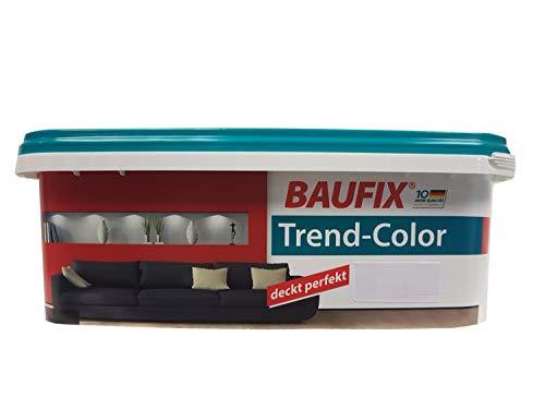 Baufix Wandfarbe Trend-Color farbton wählbar, seidenmatt 2,5 Liter, Farbe:karminrot