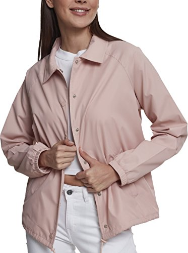 Urban Classics Damen Ladies Coach Jacket Jacke, Rosa (Lightrose 00823), Small (Herstellergröße: S)