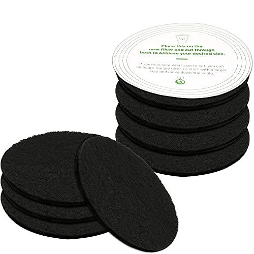 Filtros Antiolor para Cubo de Basura Filtros de Carbón Activado de Repuesto Evitar Olores Contenedores para Hacer Compost Tamaño Universal 17 cm (Paquete de 8)