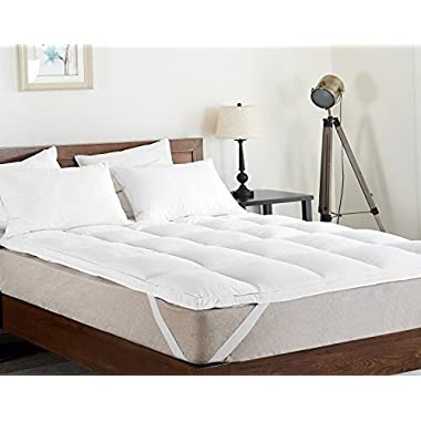 Cheer Collection Extra Plush Luxurious Down Alternative Feather Bed Mattress Topper, King