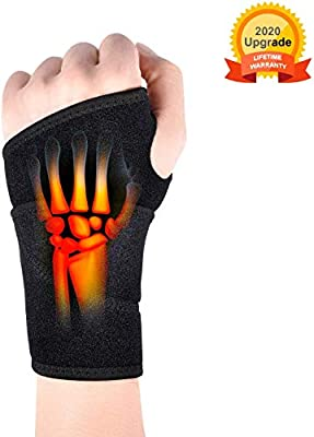 Wrist Brace for Carpal Tunnel?Comfortable and Adjustable Wrist Support Brace for Arthritis and Tendinitis, Wrist Compression Wrap with Pain Relief?Suitable for Both Right and Left Hands