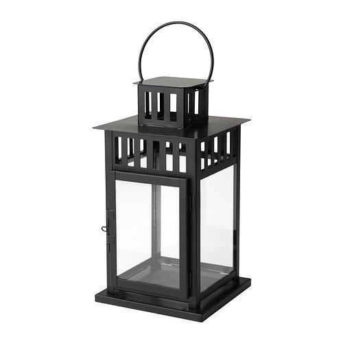IKEA(イケア) BORRBY 50156112 ブロックキャンドル用ランタン, ブラック