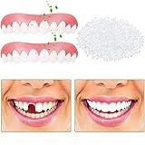Anzkzo 2 Pcs Set Dientes de dentadura Veneers Blanqueamiento Silicona Dientes Confort Ajuste Flex Diente cosmético Instantánea Sonríe Cosméticos- A
