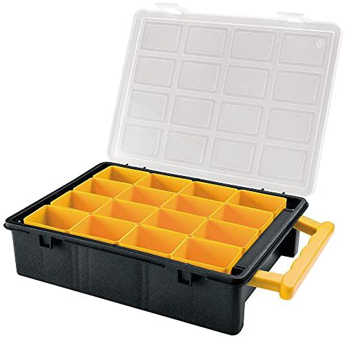 ART PLAST Portaminuterie Con Vaschette Removibili 18x12,8x3,2cm 16 Vaschette 24,2x18,8x6,0cm