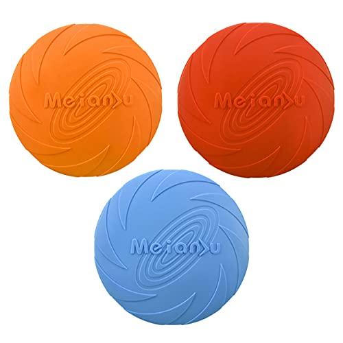 Hunde Frisbee 3 Stück Natürliches Gummi Intelligenzspielzeug, für Haustier-Training, Wasserund Bodeninteraktion Frisbee Hund, für kleine und mittelgroße Hunde