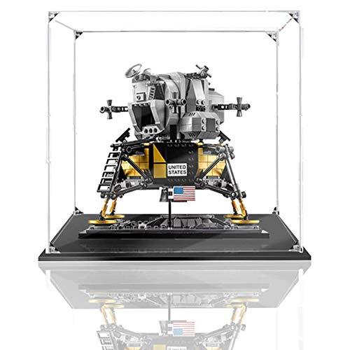 JW-YZWJ Caja de visualización acrílica, Caja de visualización de protección contra el Polvo Compatible con Lego 10266 (Modelo de Juguete no Incluido)