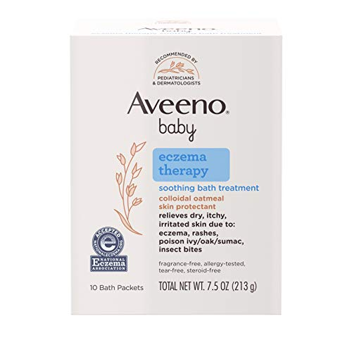 Aveeno Baby Eczema Therapy Soothing Bath Treatment for Relief of Dry,...