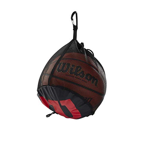Wilson Unisex-Adult SINGLE BALL BSKT BAG Basketball, BLACK, Uni