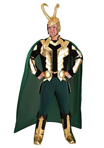 Disfraz de Marvel Loki Premium para hombre - Verde - Large