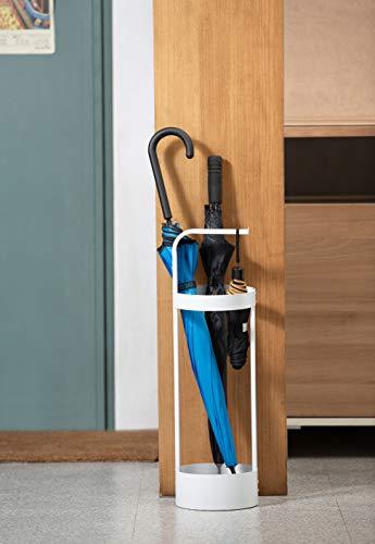 JackCubeDesign Regenschirmständer aus Stahl, platzsparend, für Eingangstür, Organizer für Haustür, Weiß – MK444B