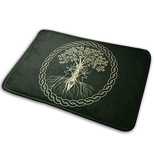 TPOKIM Bathroom Rugs Bath Mat Door Mats Celtic Ritual Norse Nordic Viking Goddess Wiccan Wicca Memory Foam Front Kitchen Rug Carpet for Kitchen Hall Inside Outdoor 15.7 X 23.5 in