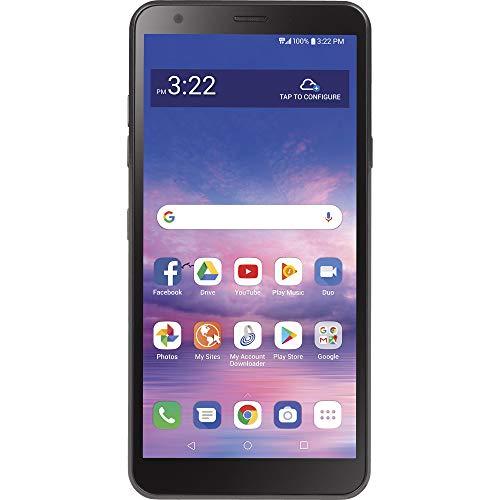 LG TracFone Journey 4G LTE Prepago Smartphone (Cerrado) - Negro - 32GB - Tarjeta SIM incluida - CDMA - Embalaje Libre de frustración
