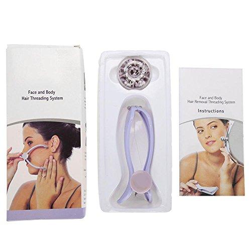 Depiladora de hilo de algodón para el cuello facial, depiladora, herramienta de depilación con 10 líneas de algodón para dama de (Paquete de medicamentos)…