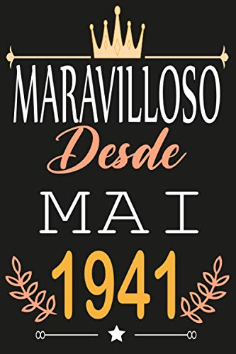 Maravillosa Desde Abril 1941: Regalos de cumpleaños confinamiento 80 años para mujeres y hombres y niño y niña ... para un cumpleaños.