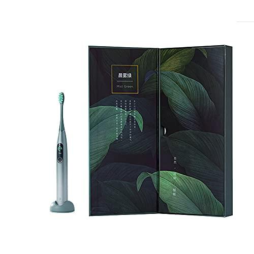 Oclean X Pro Cepillo eléctrico sónico similar rendimiento Philips HX 9000 serie Recargabire impermeable APP Bluetooth Planos de cepillado personalizados control velocidad 32 conversiones verde